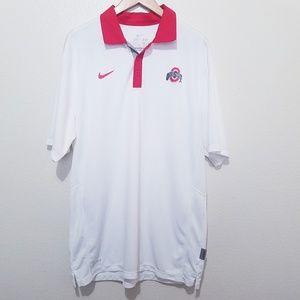 Nike Ohio Dri Fit Polo Large